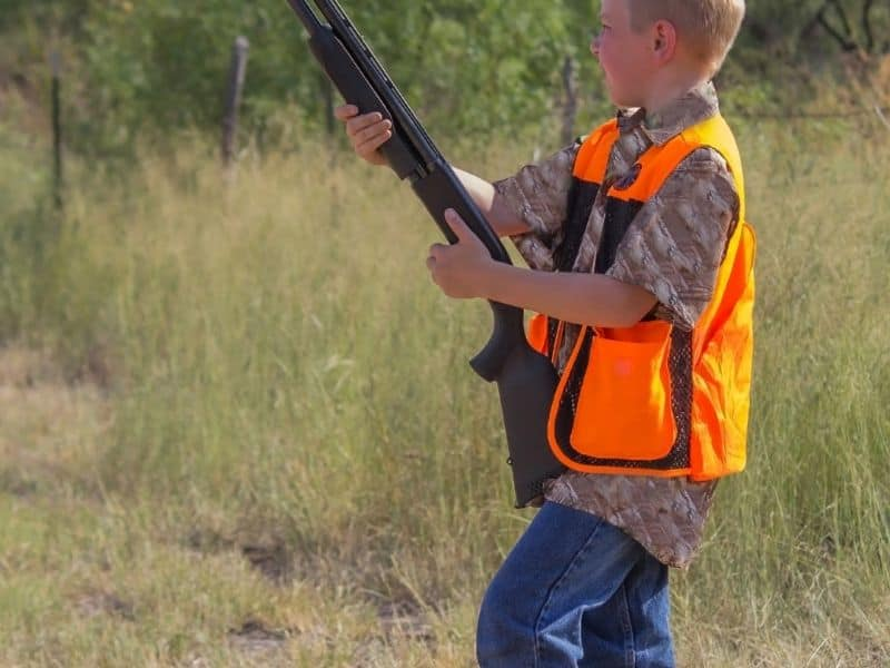 Photo of kid hunting