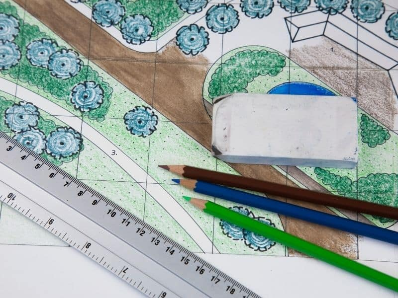 photo of garden drawing