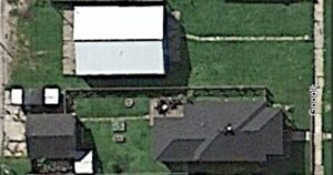 Google earth image of small town homestead