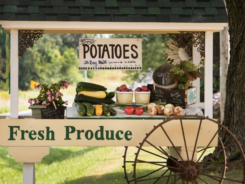 photo of vegetable stand