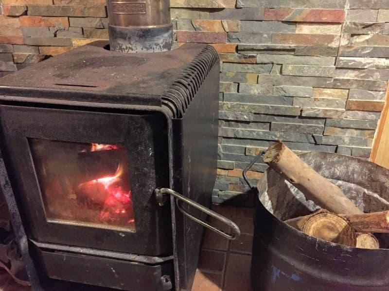 Photo of wood burning stove