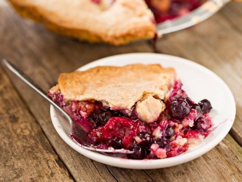 photo of berry pie