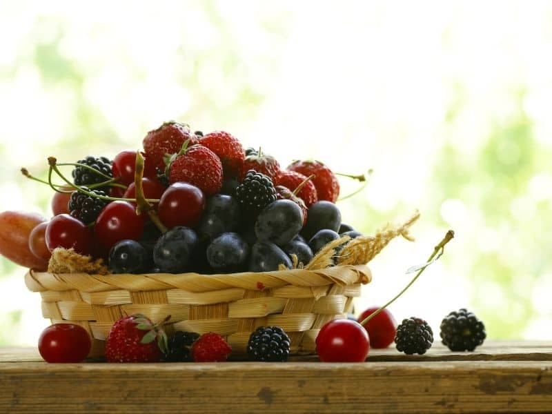 Photo of a basket of berries