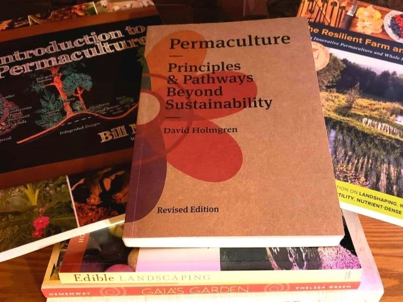 photo of permaculture books